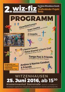Wiz-fiz – Das kleine Witzenhäuser Benefizkonzert am 25. Juni 2016
